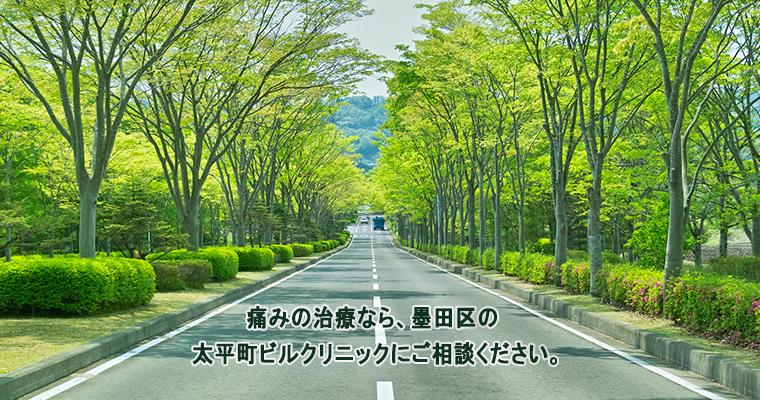 痛みの治療なら、墨田区の 太平町ビルクリニックにご相談ください。